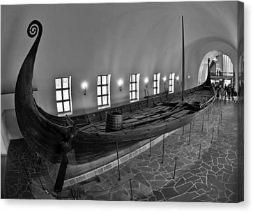 Vikingship Canvas Print by A A