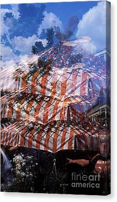 Viktualienmarkt Canvas Print by Angela Bruno