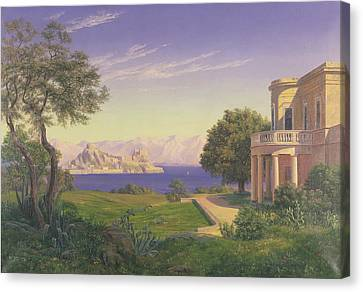 Villa Overlooking Capri  Canvas Print by Anonymous