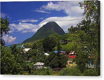 Canvas Print featuring the photograph Village Of Choiseul- St Lucia by Chester Williams
