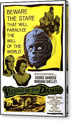 Village Of The Damned, George Sanders Canvas Print by Everett