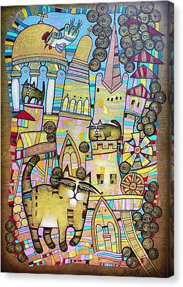 Villages Of My Childhood Canvas Print