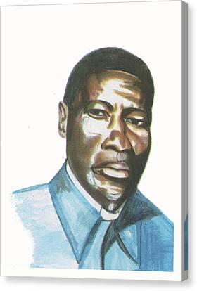 Vincent Mulago Canvas Print by Emmanuel Baliyanga