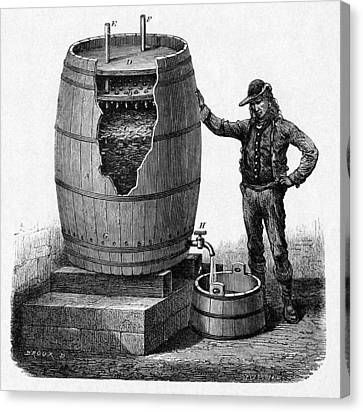 Vinegar Production, 19th Century Canvas Print by Cci Archives