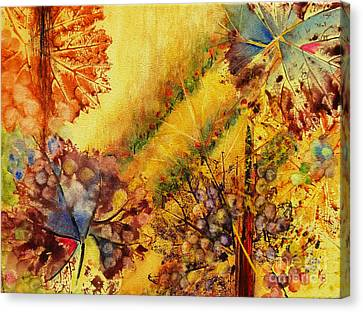 Vineyard Canvas Print by Karen Fleschler