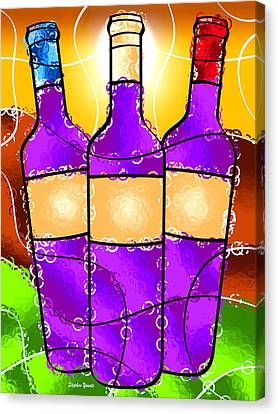 Tasting Canvas Print - Vino by Stephen Younts