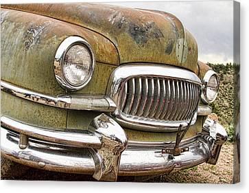 Vintage 1951 Nash Ambassador Front End 2 Canvas Print by James BO  Insogna
