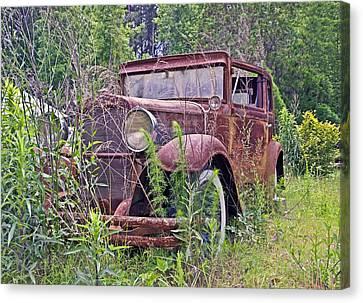 Canvas Print featuring the photograph Vintage Automobile by Susan Leggett