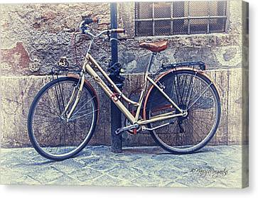 Vintage Bike Canvas Print by Nancy Morgantini