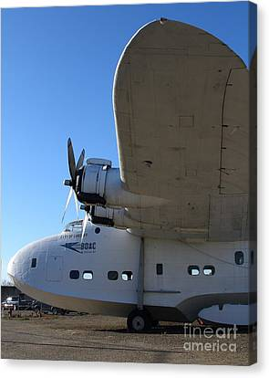 Vintage Boac British Overseas Airways Corporation Speedbird Flying Boat . 7d11290 Canvas Print by Wingsdomain Art and Photography