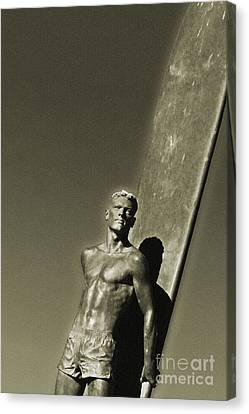Vintage Bronze Surfer Canvas Print by Paul Topp