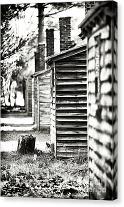 Vintage Cabins Canvas Print by John Rizzuto