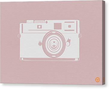 Vintage Camera Poster Canvas Print by Naxart Studio