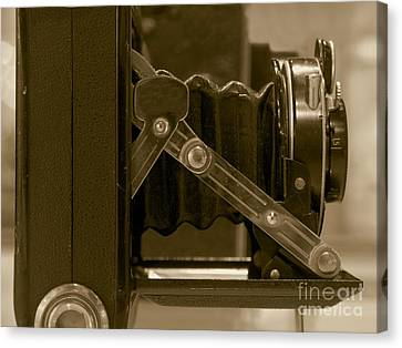 Vintage Camera With Bellows Canvas Print by Yali Shi