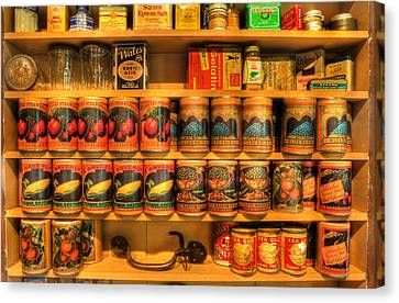 Vintage Canned Goods - General Store Vintage Supplies - Nostalgia Canvas Print by Lee Dos Santos