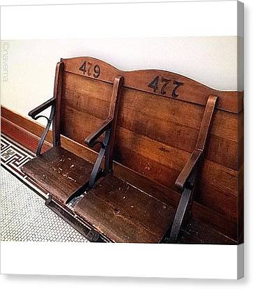 Ohio Canvas Print - Vintage Courthouse Seats by Natasha Marco
