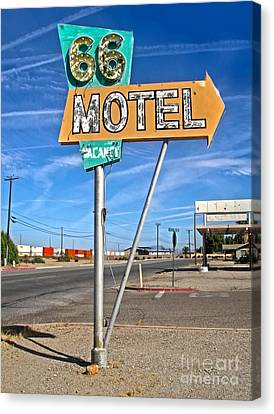 Vintage Desert Motel Sign Canvas Print by Gregory Dyer