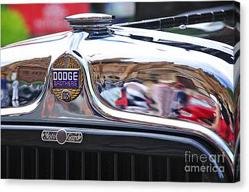 Vintage Dodge - Circa 1930's - Badge Canvas Print by Kaye Menner