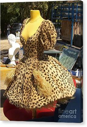 Vintage Dress At Flea Market Canvas Print by Lainie Wrightson