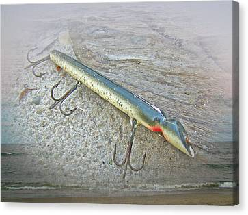Vintage Fishing Lure - Floyd Roman Nike Lil Sandee Canvas Print by Mother Nature