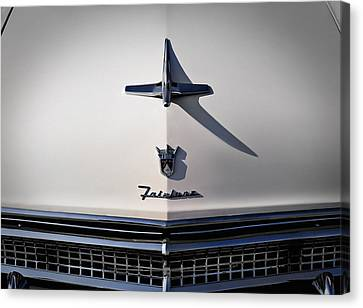 Vintage Ford Fairlane Hood Ornament Canvas Print by Douglas Pittman
