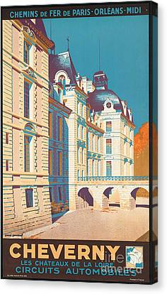 Vintage French Travel Poster Canvas Print by George Pedro