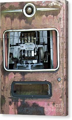 Vintage Gas Pump Canvas Print by Alan Look