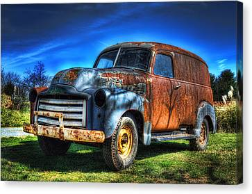 Vintage Gmc Canvas Print by Steve Hurt