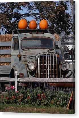 Farm Stand Canvas Print - Vintage Harvest by Kimberly Perry