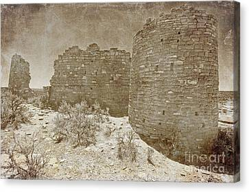 Vintage Hovenweep Castle Canvas Print by Bob and Nancy Kendrick
