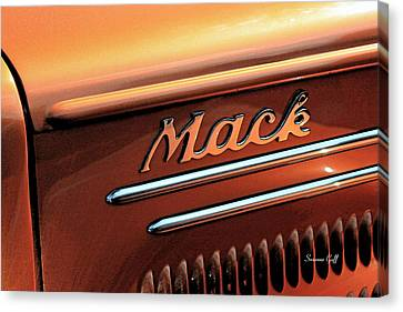 Vintage Mack Truck II Canvas Print by Suzanne Gaff