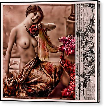 Canvas Print featuring the photograph Vintage Muse by Mary Morawska