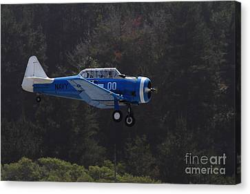 Vintage North American Snj-4 Us Navy Aircraft . 7d15627 Canvas Print by Wingsdomain Art and Photography