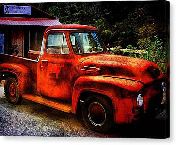 Vintage Pickup Truck Canvas Print by Trudy Wilkerson