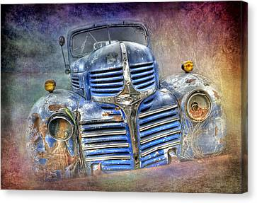 Vintage Rainbow Dodge Canvas Print
