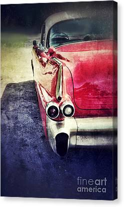 Vintage Red Car Canvas Print by Jill Battaglia