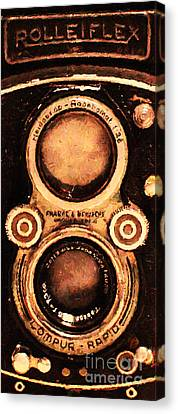 Vintage Rolleiflex Camera . Long Cut . 7d13357 Canvas Print by Wingsdomain Art and Photography