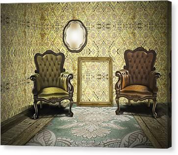 Vintage Room Interior Canvas Print