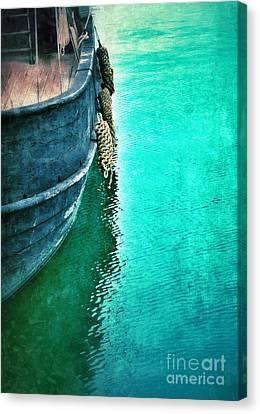 Vintage Ship Canvas Print by Jill Battaglia