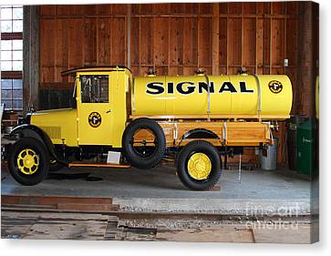 Vintage Signal Gasoline Truck . 7d12935 Canvas Print by Wingsdomain Art and Photography