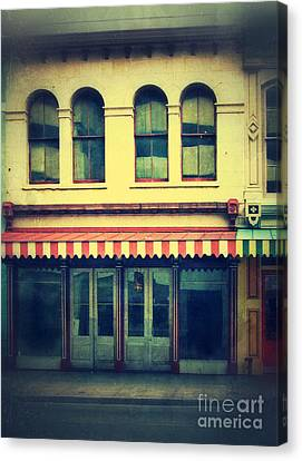 Vintage Store Fronts Canvas Print by Jill Battaglia