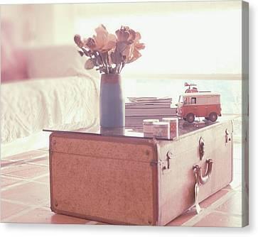 Vintage Suitcase Canvas Print by Carmen Moreno Photography