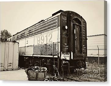 Vintage Train Boxcar Canvas Print by Cheryl Davis