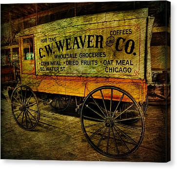 Vintage Wholesale Groceries Wagon - C.w. Weaver Company - Vintage - Nostalgia - General Store -  Canvas Print by Lee Dos Santos