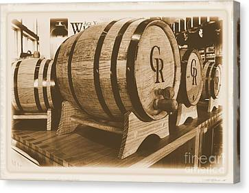 Vintage Winery Photo Canvas Print