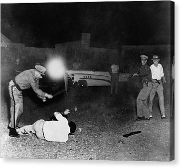 Violent Arrest By Colorado Police Canvas Print