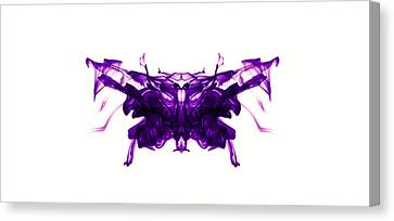 Violet Abstract Butterfly Canvas Print by Sumit Mehndiratta