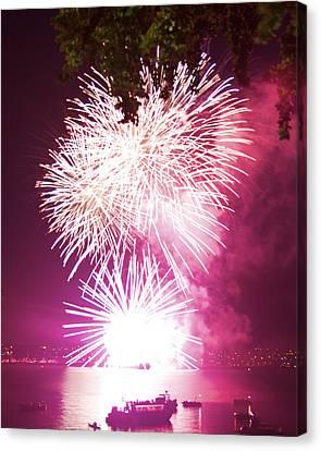 Violet Explosion Canvas Print by JM Photography