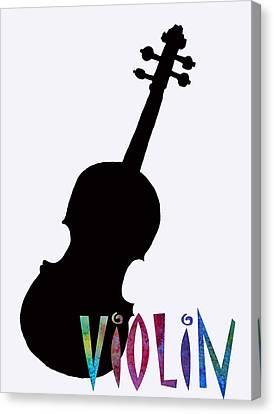 Violin Canvas Print by Jenny Armitage
