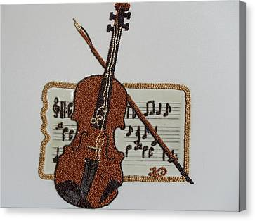 Violin Canvas Print by Kovats Daniela